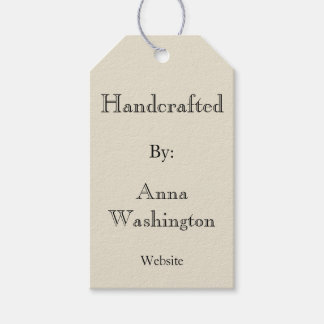 Personalized Cream Handcrafted Tag Pack Of Gift Tags