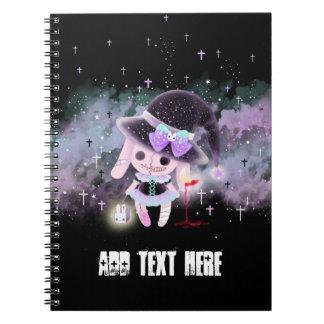 Personalized - Creepy cute hunter devil bunny Spiral Note Books