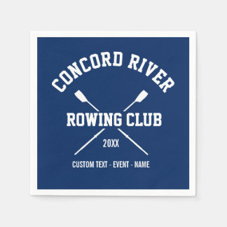 Personalized Crew Rowing Logo Oars Team Name Year Paper Napkins