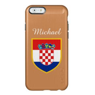 Personalized Croatia Flag Incipio Feather® Shine iPhone 6 Case