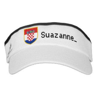 Personalized Croatia Flag Visor