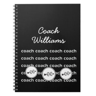 Personalized Cross Country Running Coach Spiral Notebook