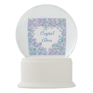 Personalized Crystal Diva Snow Globe