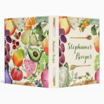 Personalized Culinary Fruits and Vegetables Vinyl Binders
