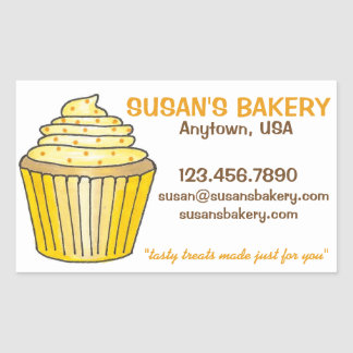 Personalized Cupcake Bakery Baked By Stickers