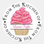 Personalized Cupcake Baking  Kitchen Stickers