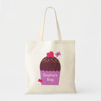Personalized Cupcake Tote Bag