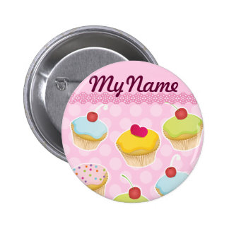 Personalized Cupcakes 2 Inch Round Button