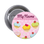 Personalized Cupcakes Pins