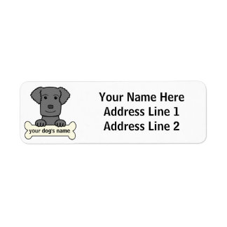 Personalized Curly-Coated Retriever Return Address Label