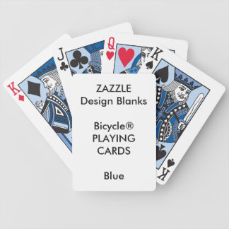 Personalized Custom Bicycle® BLUE Playing Cards
