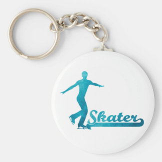 Personalized Custom Figure Skate Giftware Basic Round Button Keychain