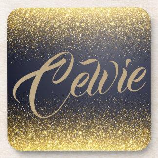 Personalized Custom Gold Glitter | Coaster