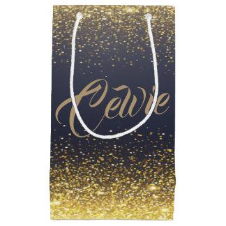 Personalized Custom Gold Glitter | Gift Bag