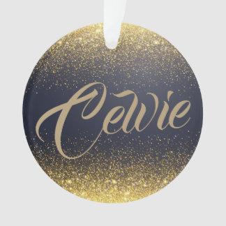 Personalized Custom Gold Glitter | Ornament
