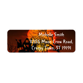 Personalized Custom Halloween Return Address Label