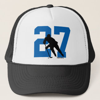 Personalized Custom Hockey Player Number Trucker Hat