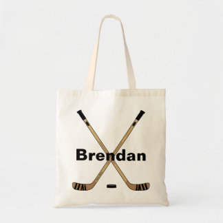Personalized Custom Hockey Sticks Book Tote Bag