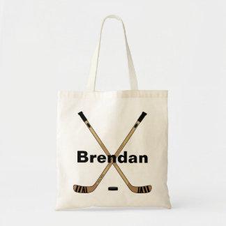 Personalized Custom Hockey Sticks Book Tote Bag