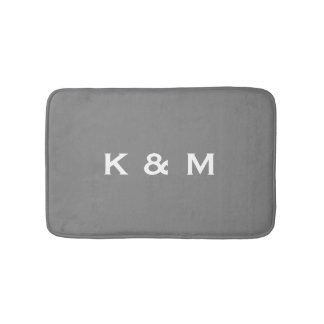 Personalized Custom Monogrammed Gray or Grey Bath Mat