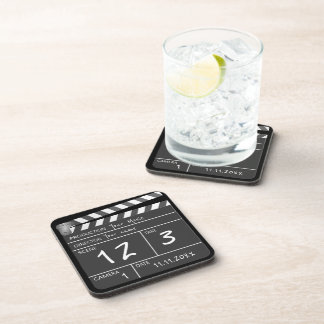 Personalized Custom Movie Clapperboard Novelty Drink Coasters
