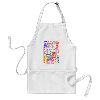 Personalized Custom Name Collage Colorful Standard Apron