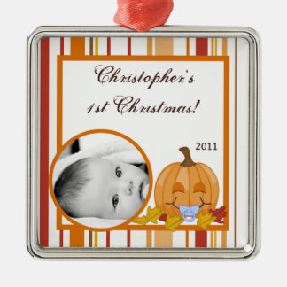 Personalized Custom Ornament Autumn Fall Pumpkin