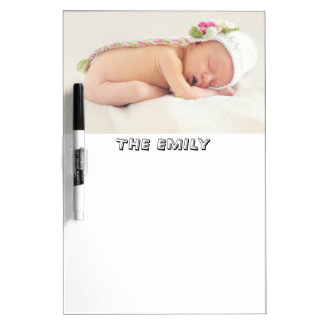 Personalized Custom Photo and Monogram Dry Erase Board