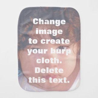 Personalized custom photo burp cloth