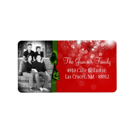 Personalized Custom Photo Christmas Mailing Label