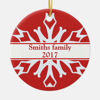 Personalized Custom Photo Ornament with Snowflakes