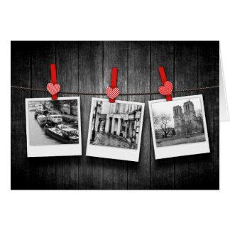 personalized custom photos on clothesline card