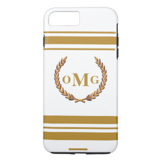 Personalized Custom Preppy Monogrammed Logo iPhone 7 Plus Case