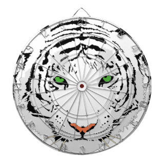 Personalized Custom Snow Tiger Dartboard