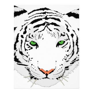 Personalized Custom Snow Tiger Letterhead
