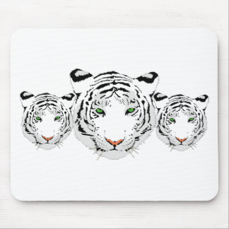 Personalized Custom Snow Tiger Mouse Pad