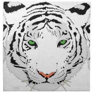 Personalized Custom Snow Tiger Napkin