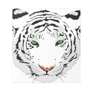 Personalized Custom Snow Tiger Notepad