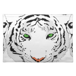 Personalized Custom Snow Tiger Placemat