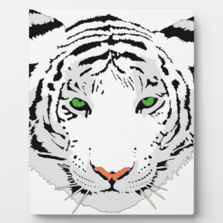 Personalized Custom Snow Tiger Plaque