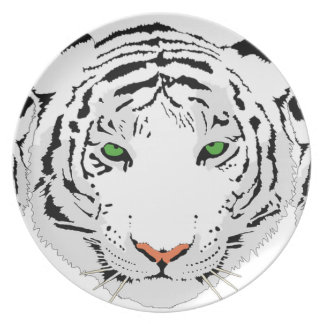 Personalized Custom Snow Tiger Plate