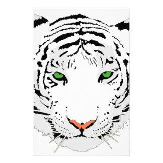 Personalized Custom Snow Tiger Stationery