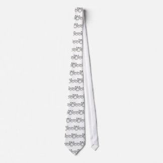 Personalized Custom Snow Tiger Tie
