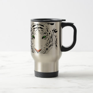 Personalized Custom Snow Tiger Travel Mug
