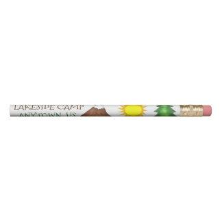 Personalized Custom Summer Camp Tree Mountain Sun Pencil