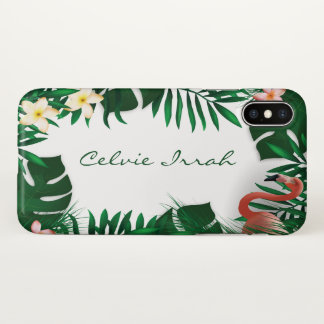 Personalized Custom Tropical Frame iPhone X Case