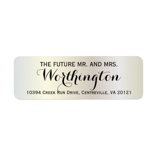 Personalized Custom Wedding Future Mr and Mrs Return Address Label