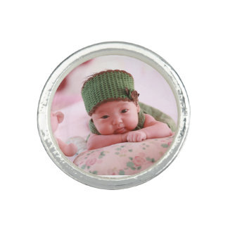 Personalized Custom Your Own Photo & Text Photo Rings