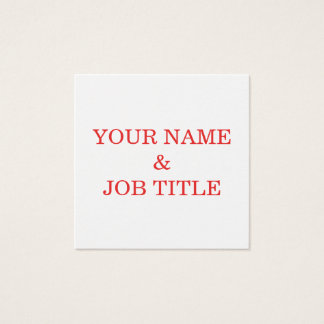 Personalized Custom Your Own Text Square Business Card