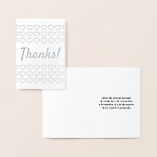 "Personalized & Customizable ""Thanks!"" Card"